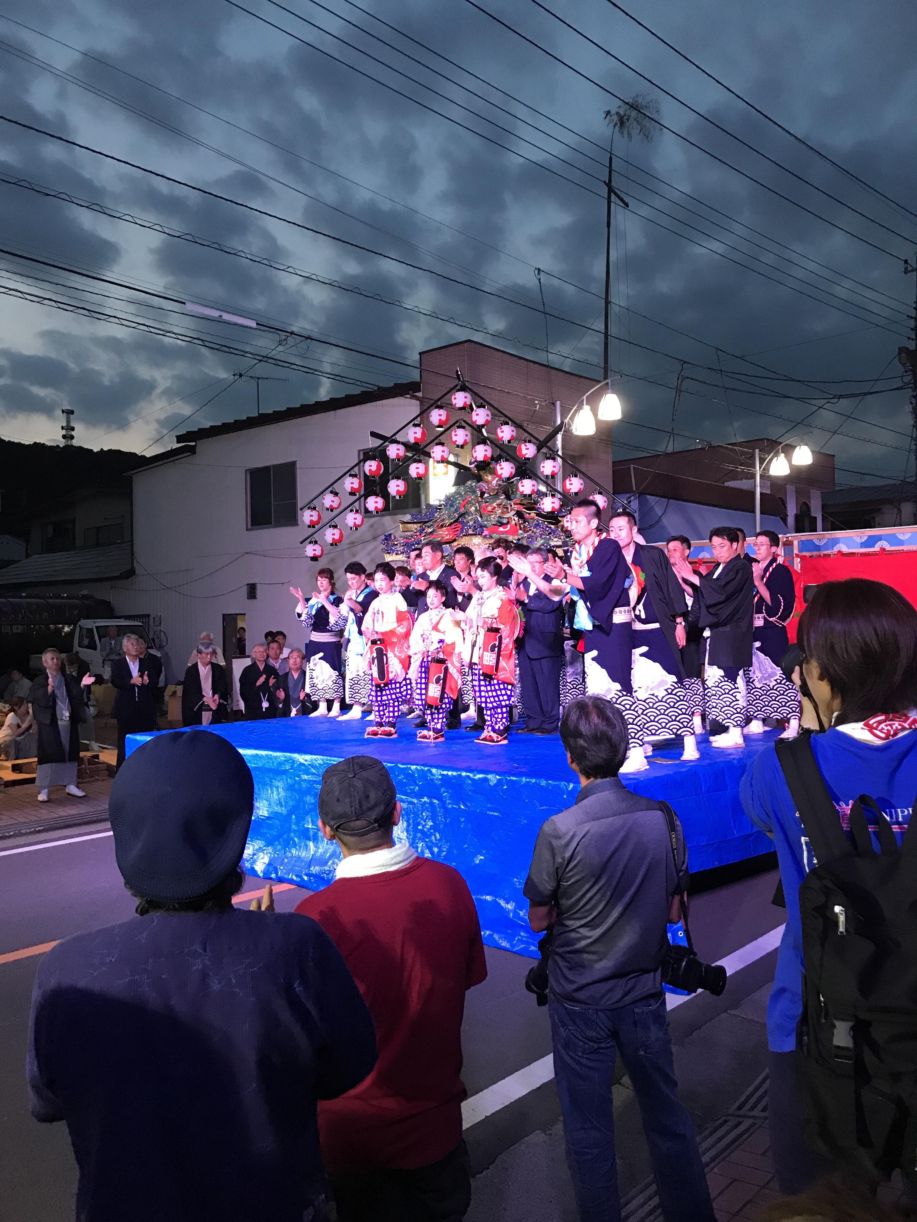 2017年 山あげ祭 仲町 傘揃