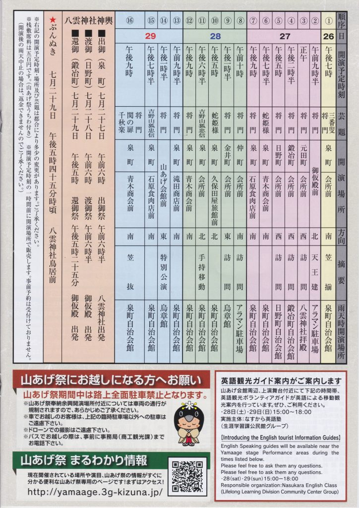 2018年 山あげ祭 泉町